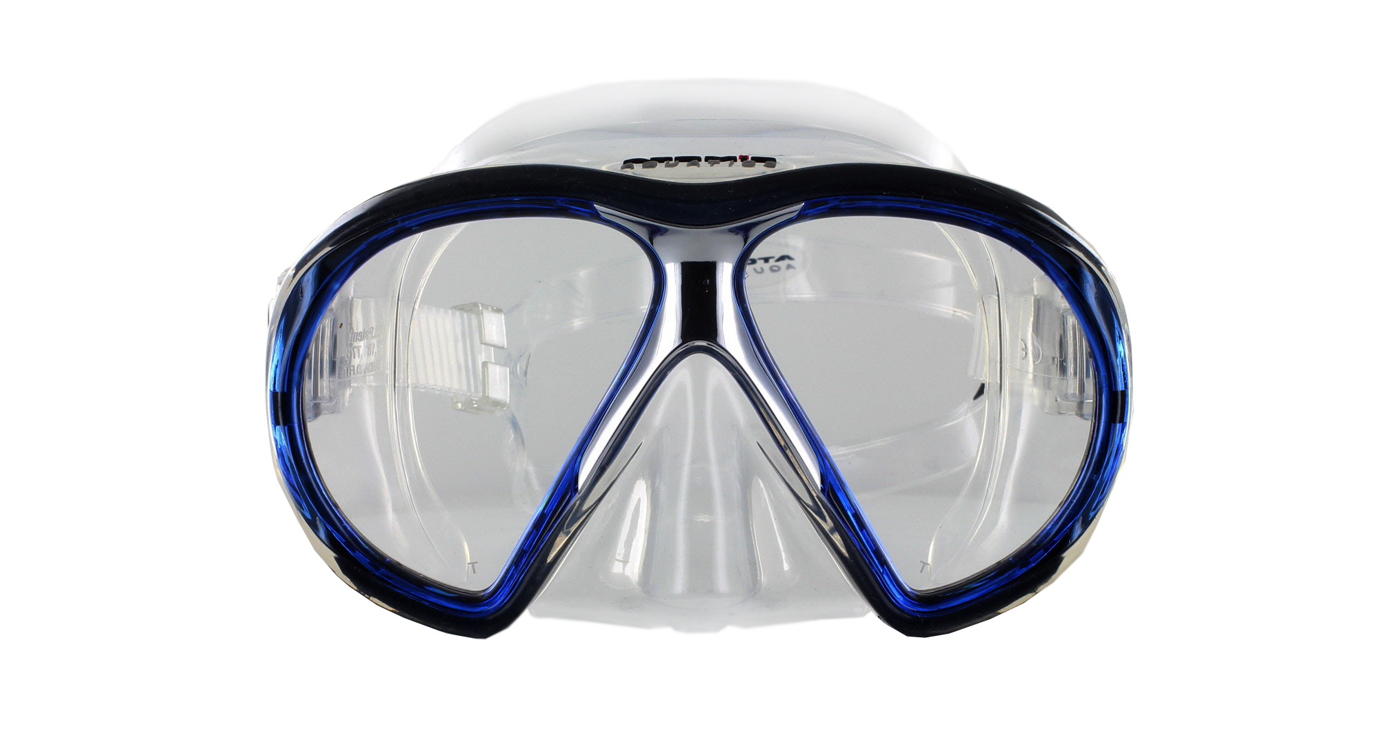 Atomic Aquatics SubFrame Clear Silicon - Blue Front Ansicht