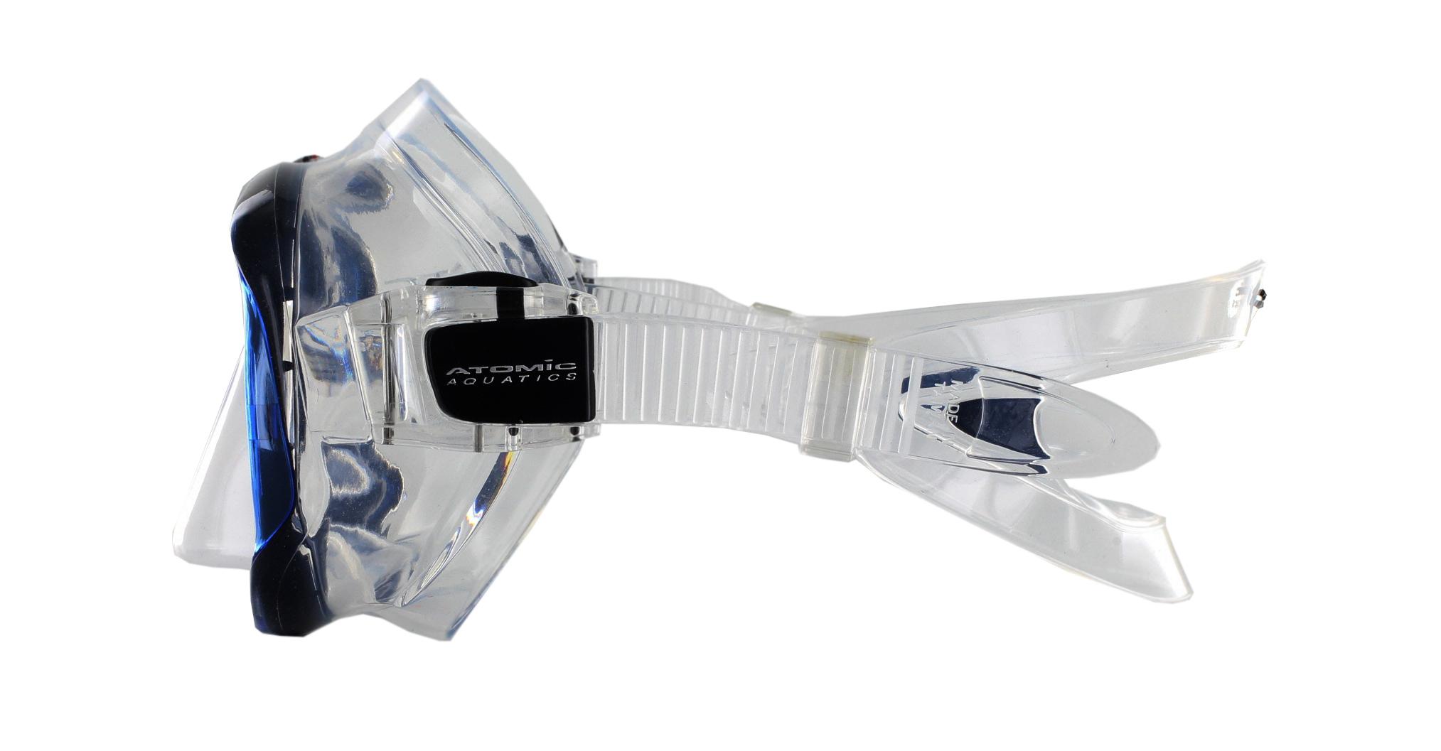 Atomic Aquatics SubFrame Clear Silicon - Blue Seite Ansicht