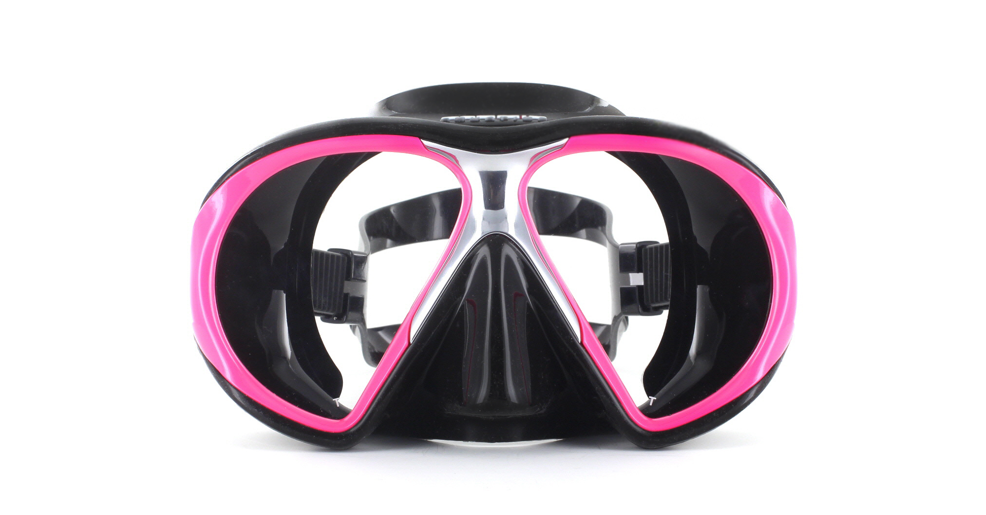 Atomic Aquatics SubFrame Black Silicon - Pink Front Ansicht