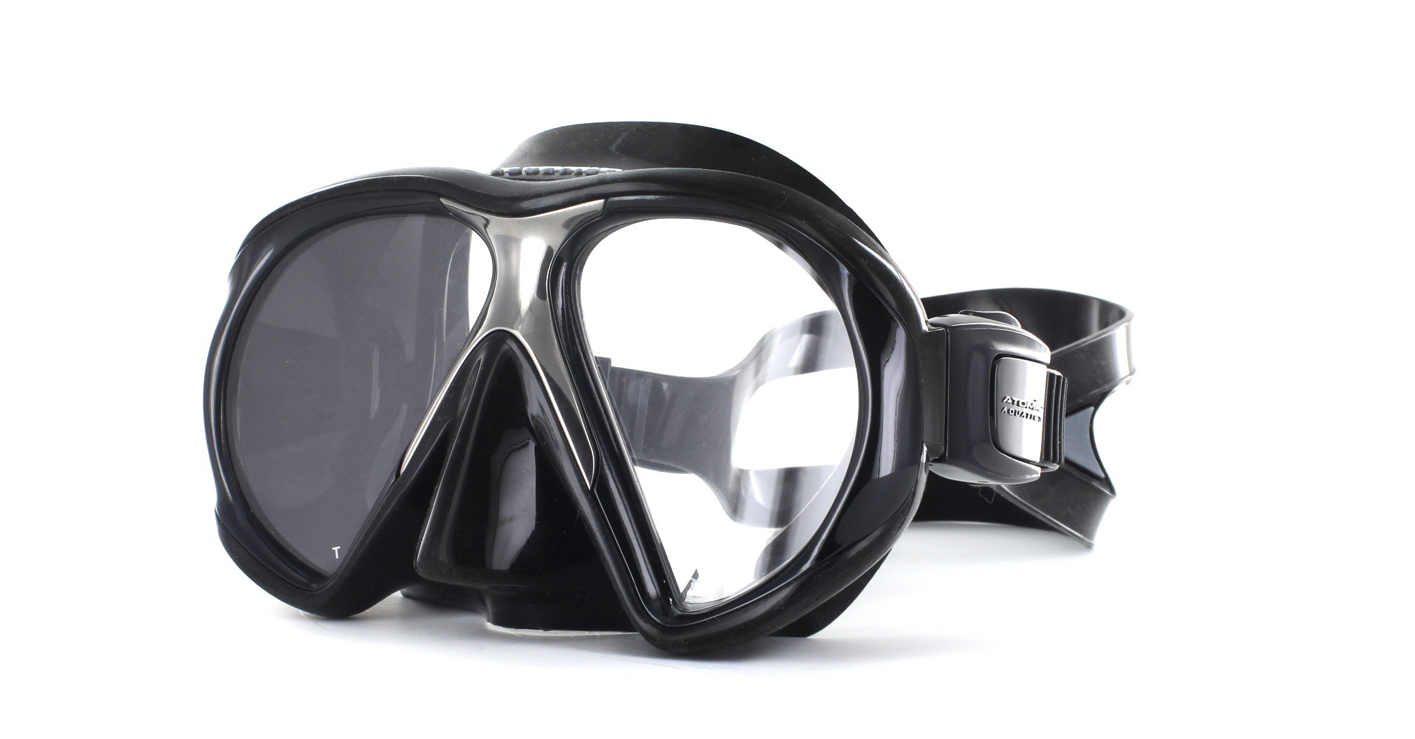 Atomic Aquatics SubFrame Black Silicon - Black Schräge Ansicht