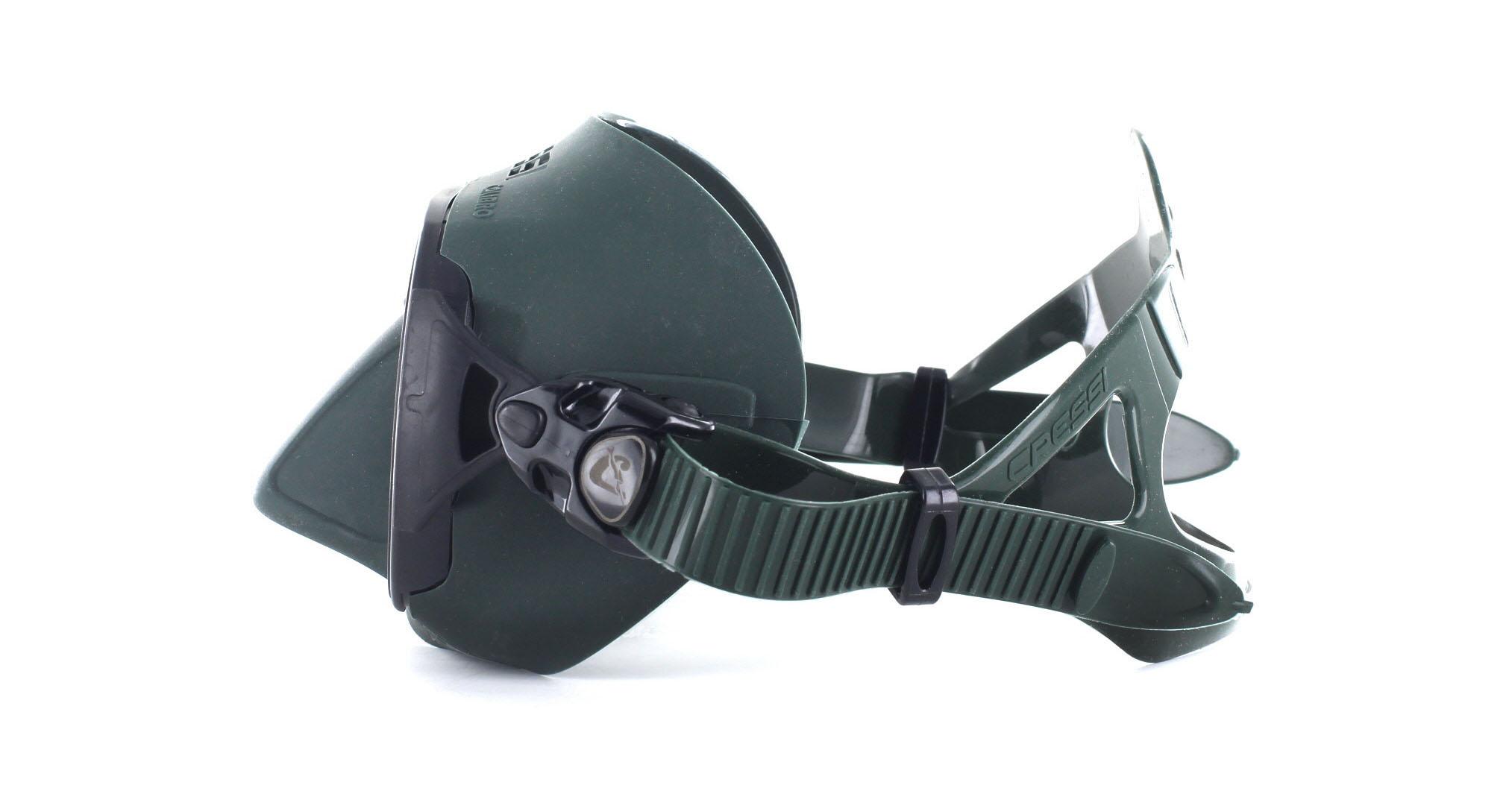 Cressi Calibro Silicon - Green - Apnoemaske Seitliche Ansicht