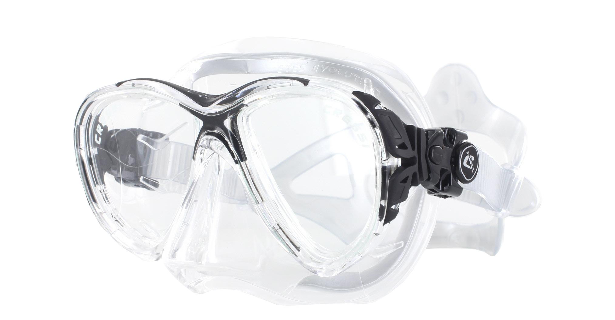 Cressi Eyes Evolution Crystal Silicon - Black Schräge Ansicht
