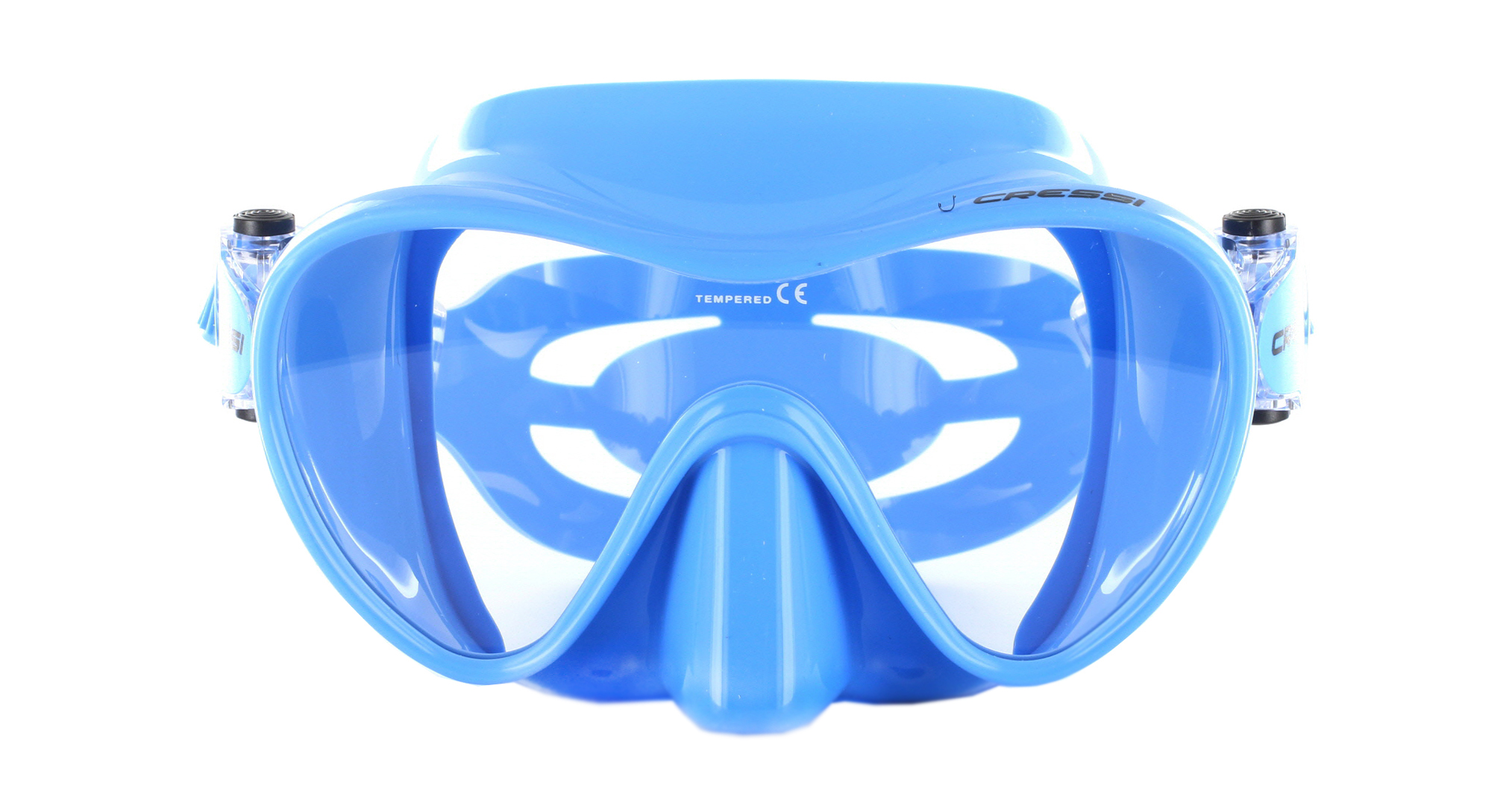 Cressi F1 Small Blue Silicon - Blue Front Ansicht