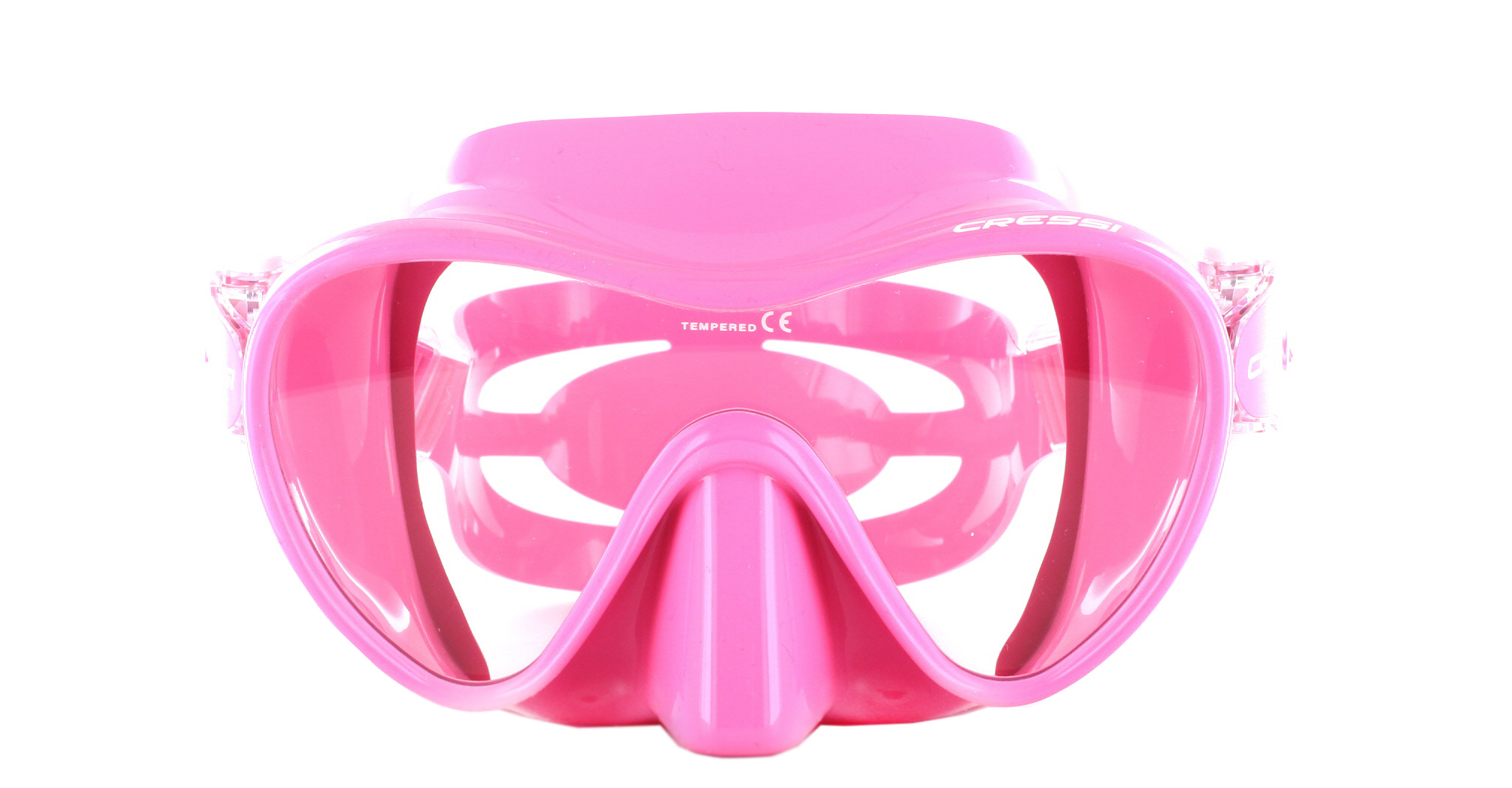 Cressi F1 Small Pink Silicon - Pink Front Ansicht