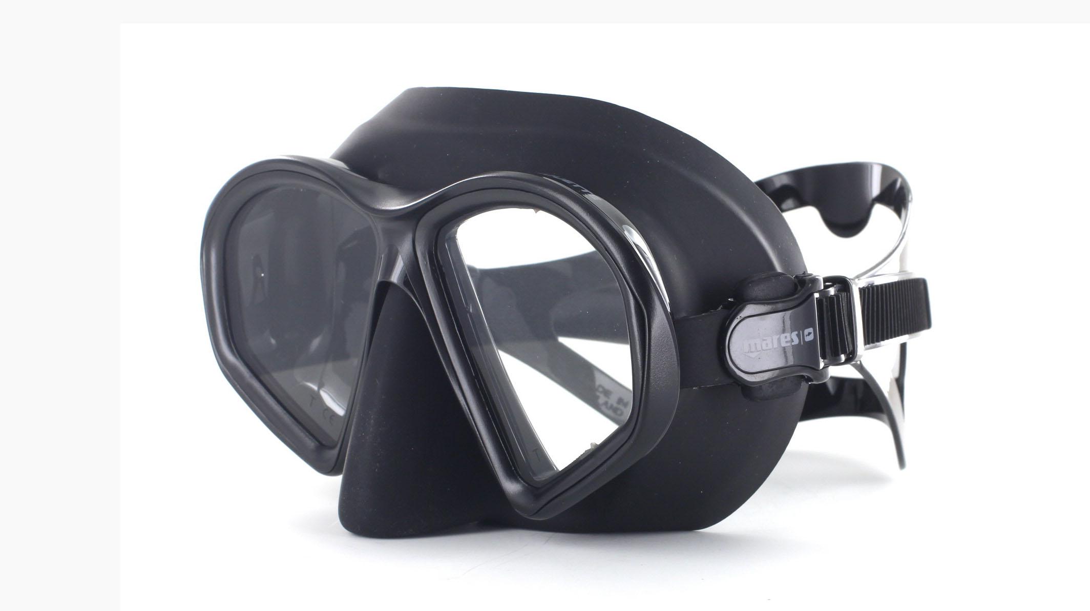 Mares Sealhouette SF - Black - Apnoe Tauchmaske Schräge Ansicht