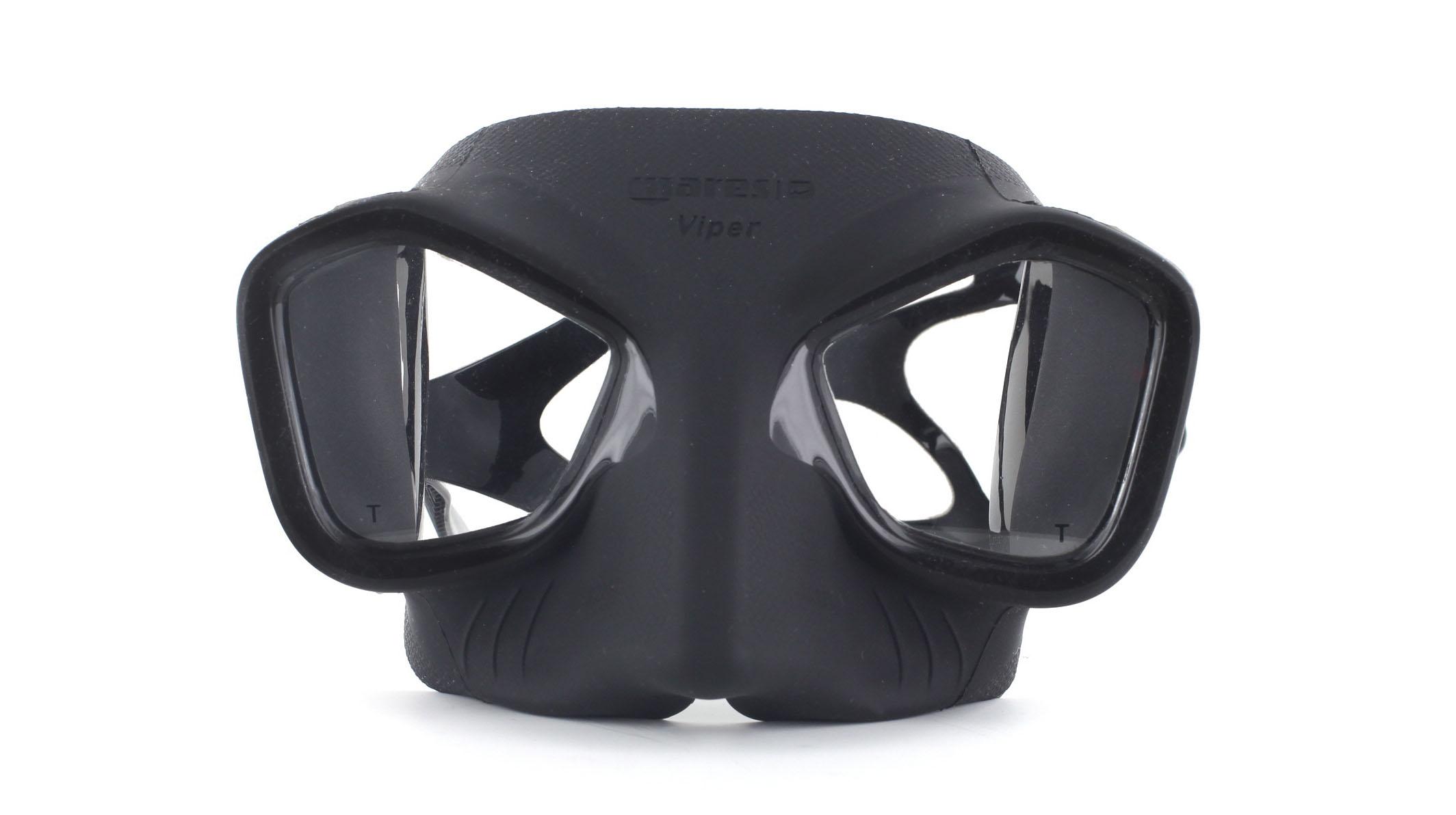 Mares Viper - Black - Apnoe Tauchmaske Front Ansicht