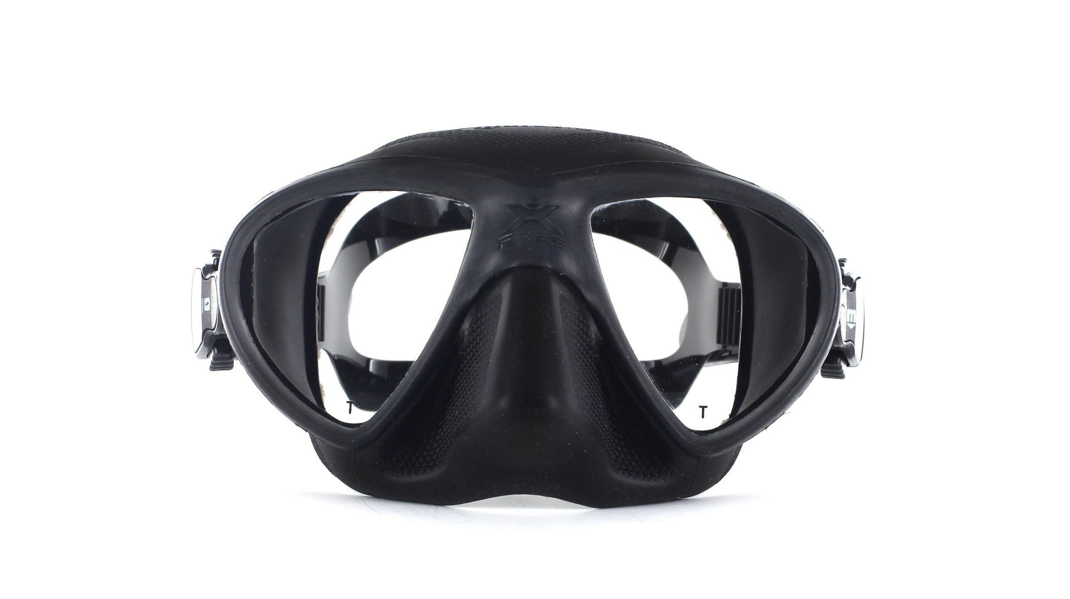 Mares X-Free - Black - Apnoe Tauchmaske Front Ansicht