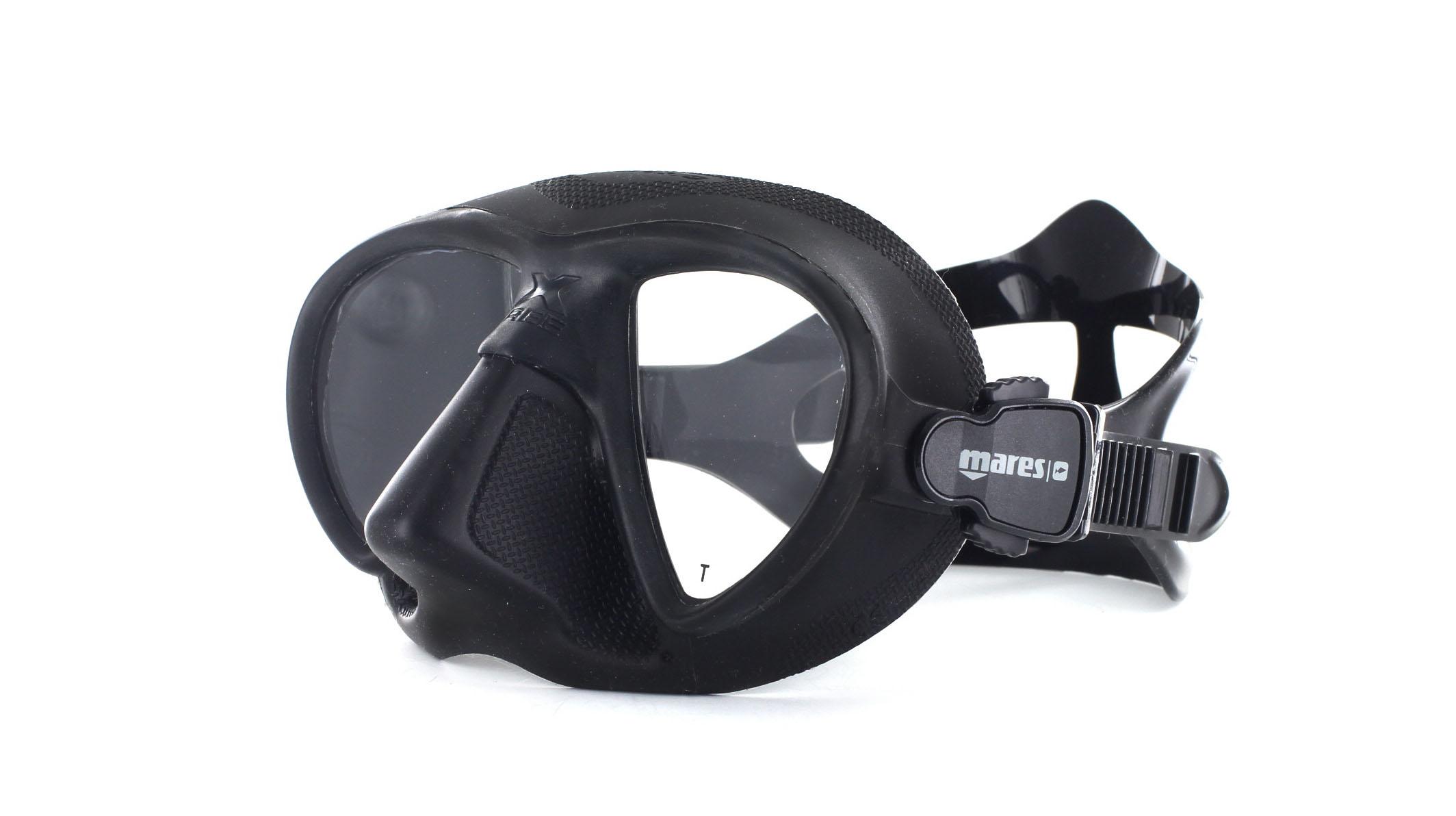 Mares X-Free - Black - Apnoe Tauchmaske Schräge Ansicht