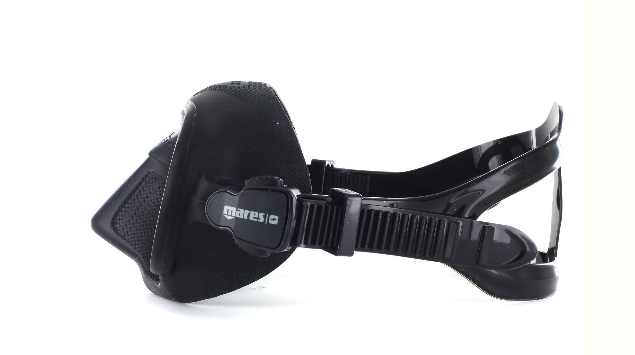Mares X-Free - Black - Apnoe Tauchmaske Seitliche Ansicht