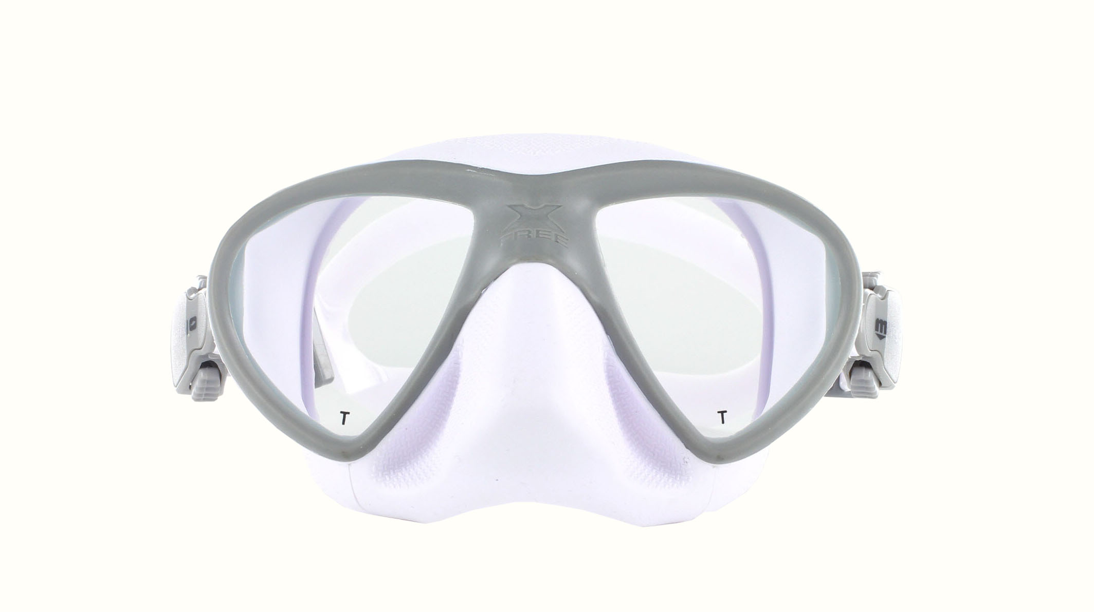Mares X-Free - White/Grey - Apnoe Front Ansicht