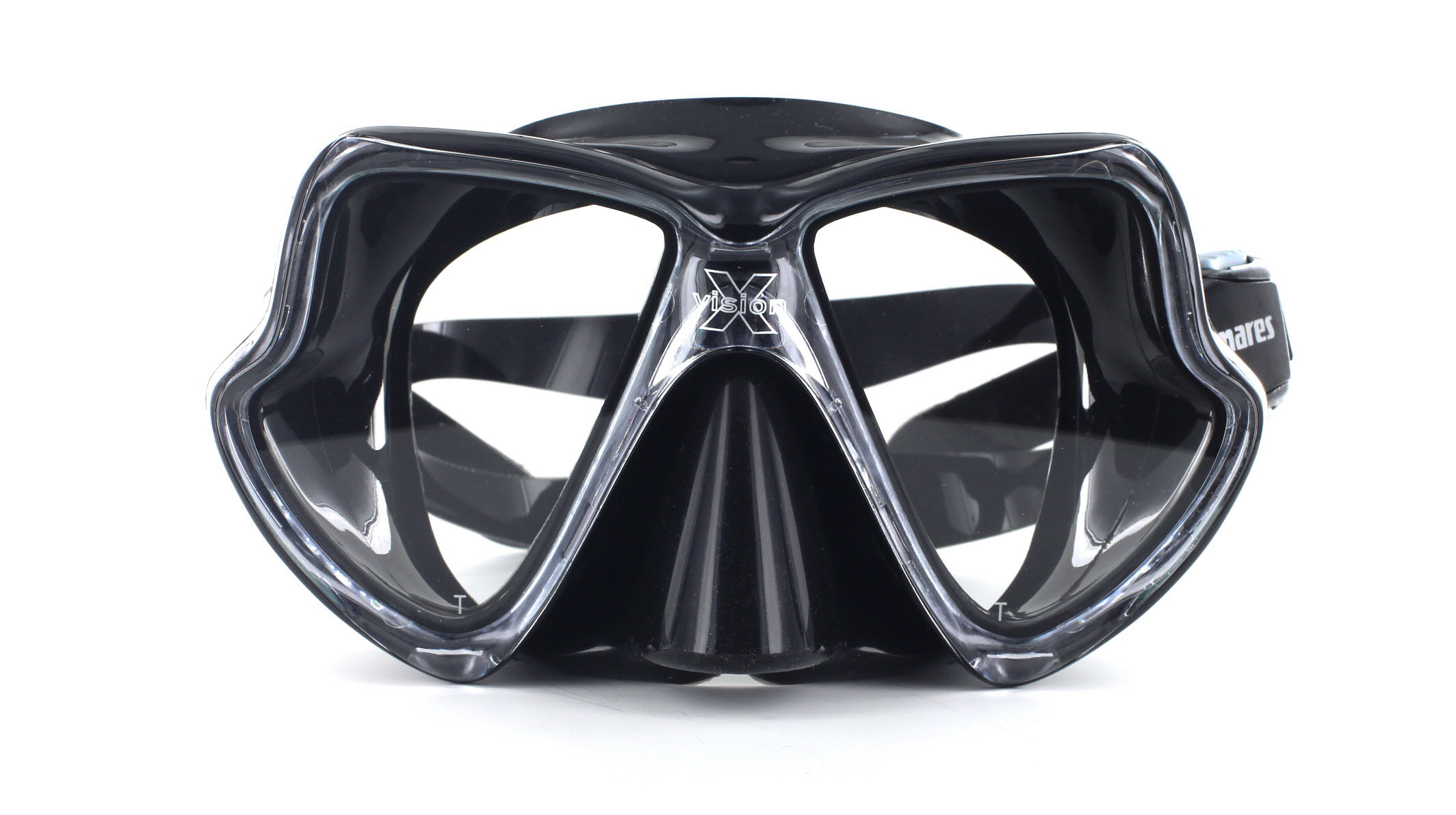 Mares X-Vision Tauchmaske MID - Black Front Ansicht