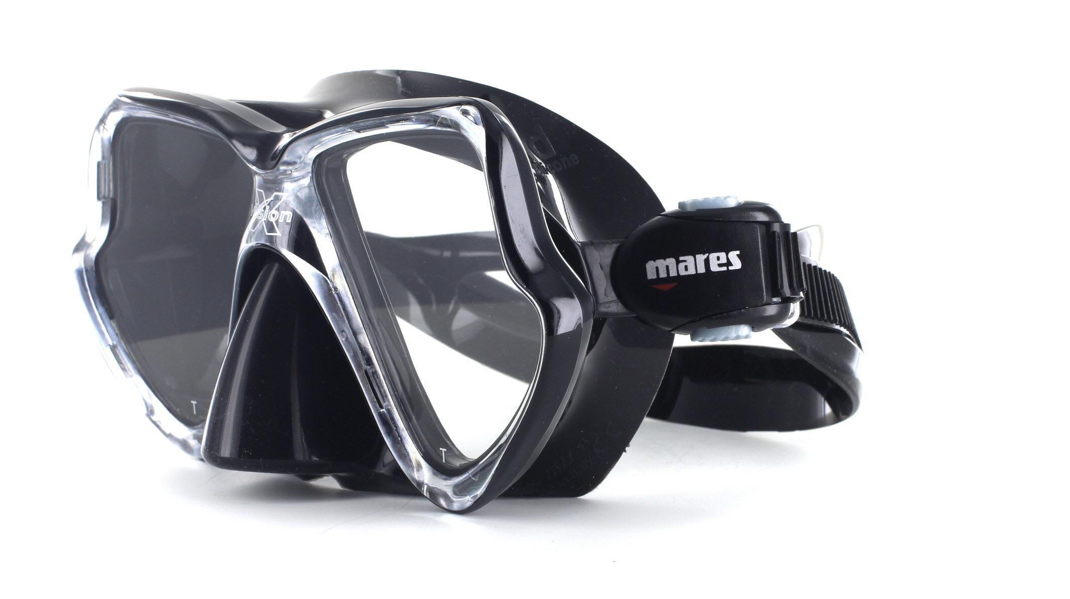 Mares X-Vision Tauchmaske MID - Black Schräge Ansicht
