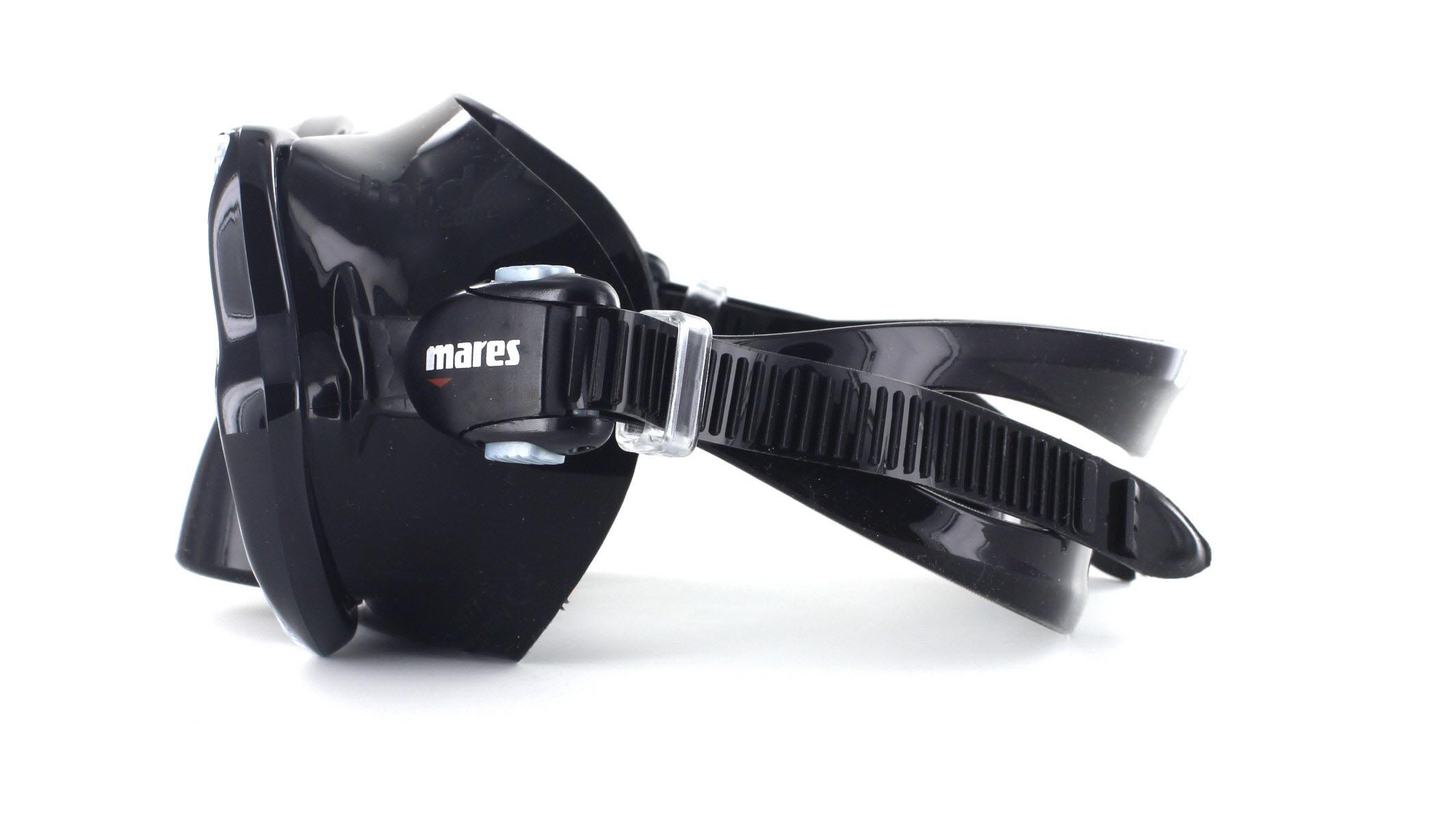 Mares X-Vision Tauchmaske MID - Black Seitliche Ansicht