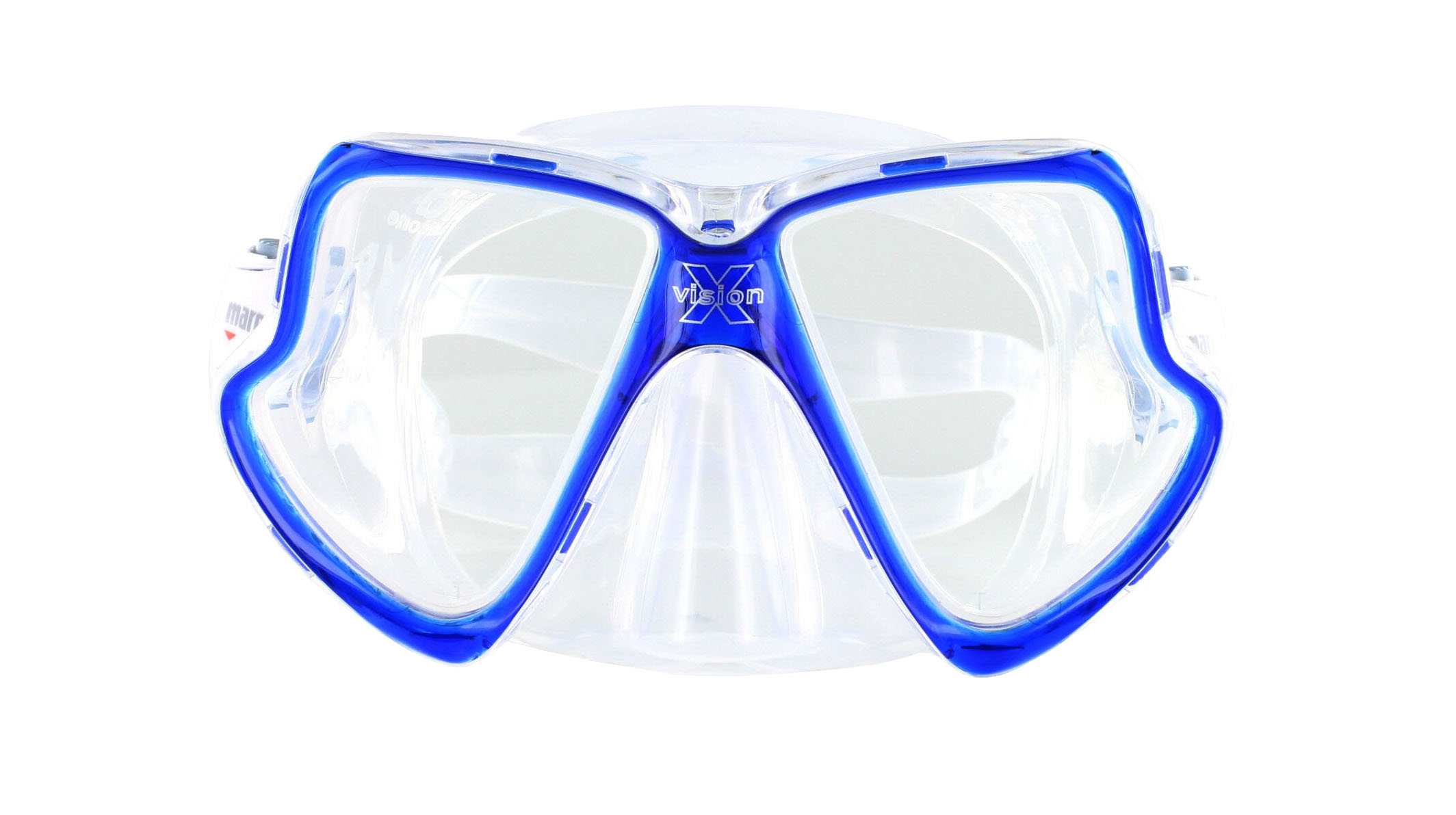 Mares X-Vision Tauchmaske MID - Clear/Blue Front Ansicht