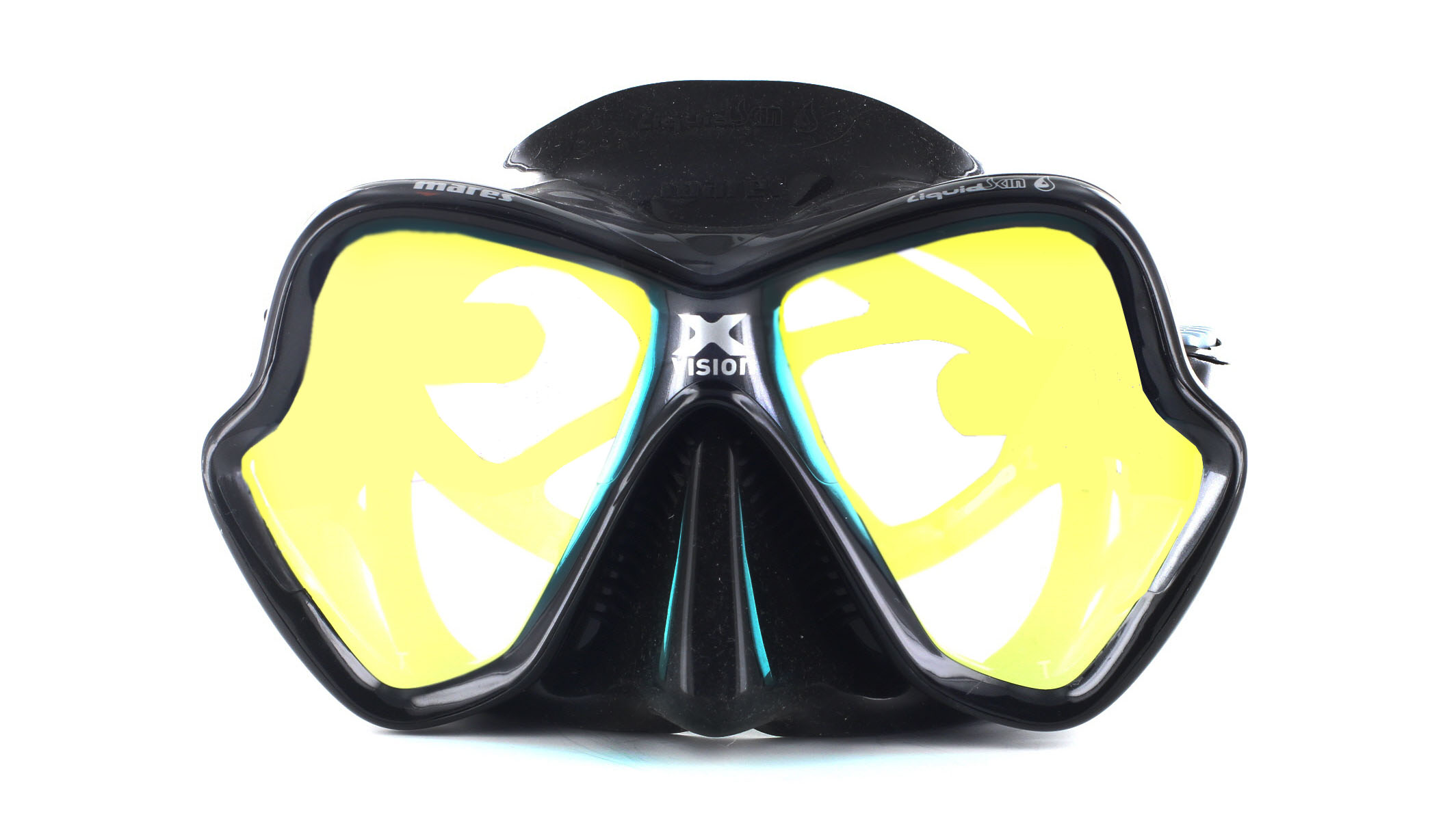 Mares X-Vision Ultra LS - Black/Gold Mirrored Front Ansicht