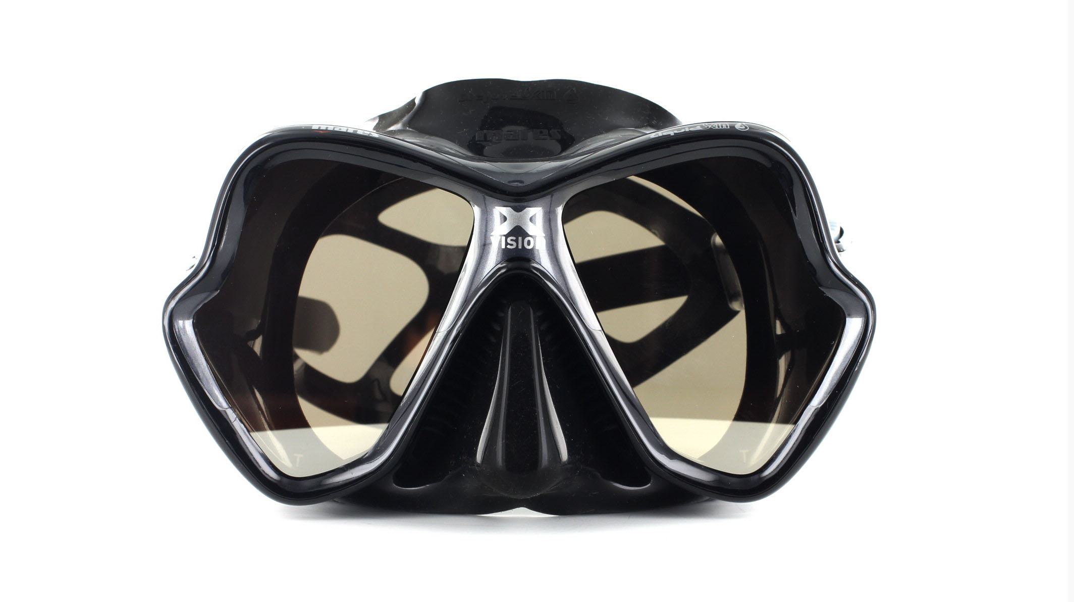 Mares X-Vision Ultra LS - Black/Silver Mirrored Front Ansicht