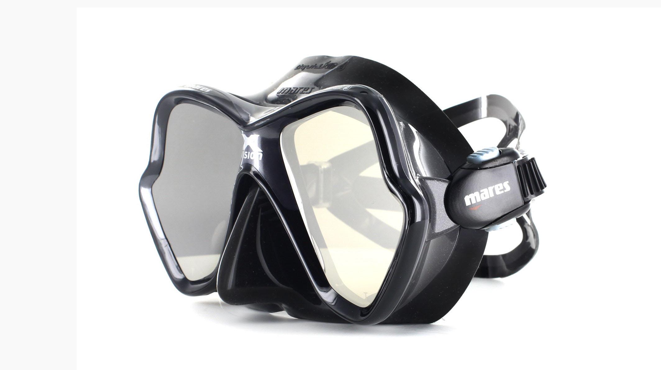 Mares X-Vision Ultra LS - Black/Silver Mirrored Schräge Ansicht