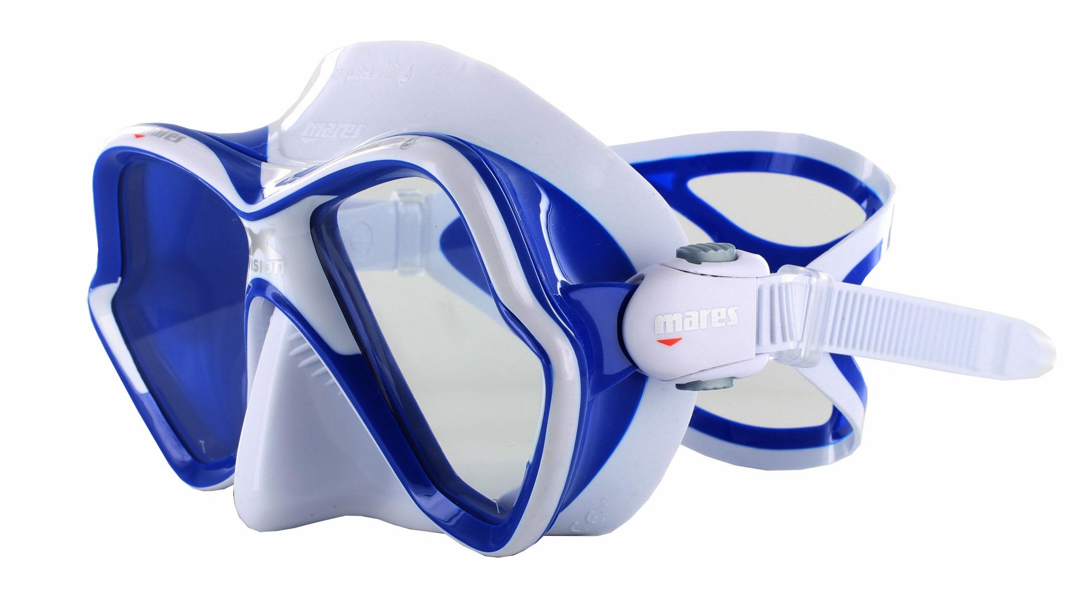 Mares X-Vision Ultra LS - White/Blue Schräge Ansicht