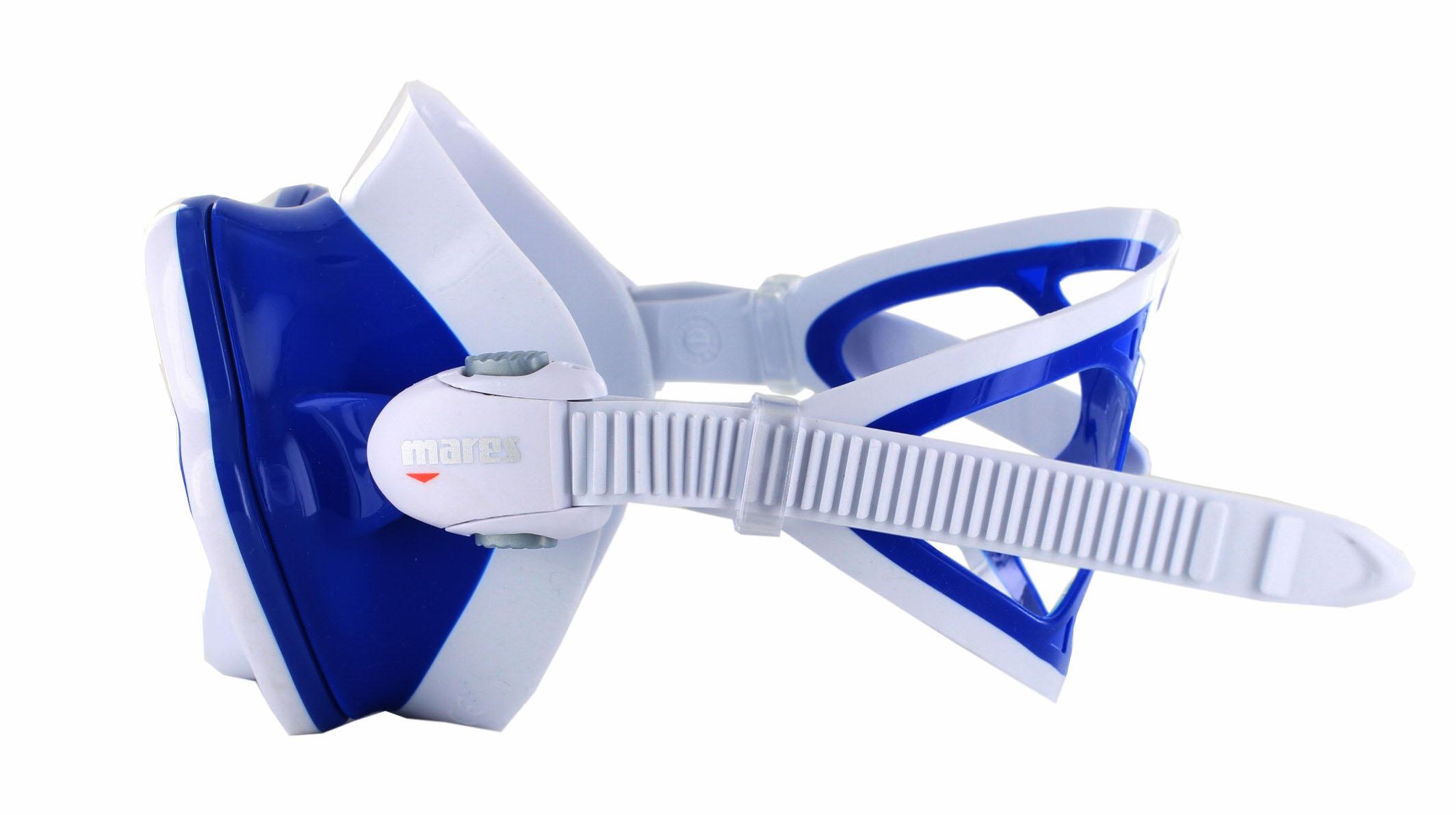 Mares X-Vision Ultra LS - White/Blue Seitliche Ansicht