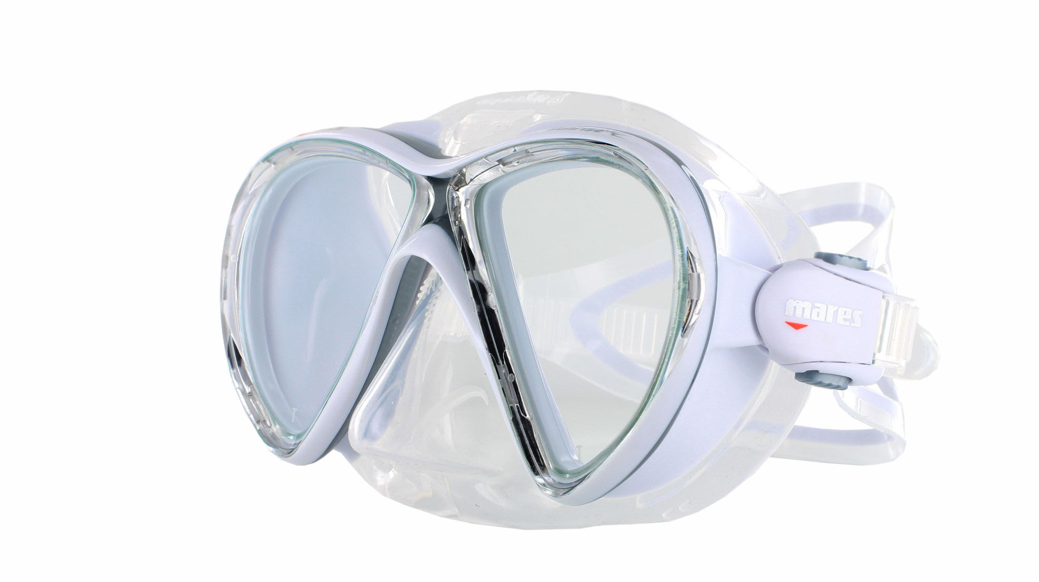 Mares X-VU - Clear/White Schräge Ansicht