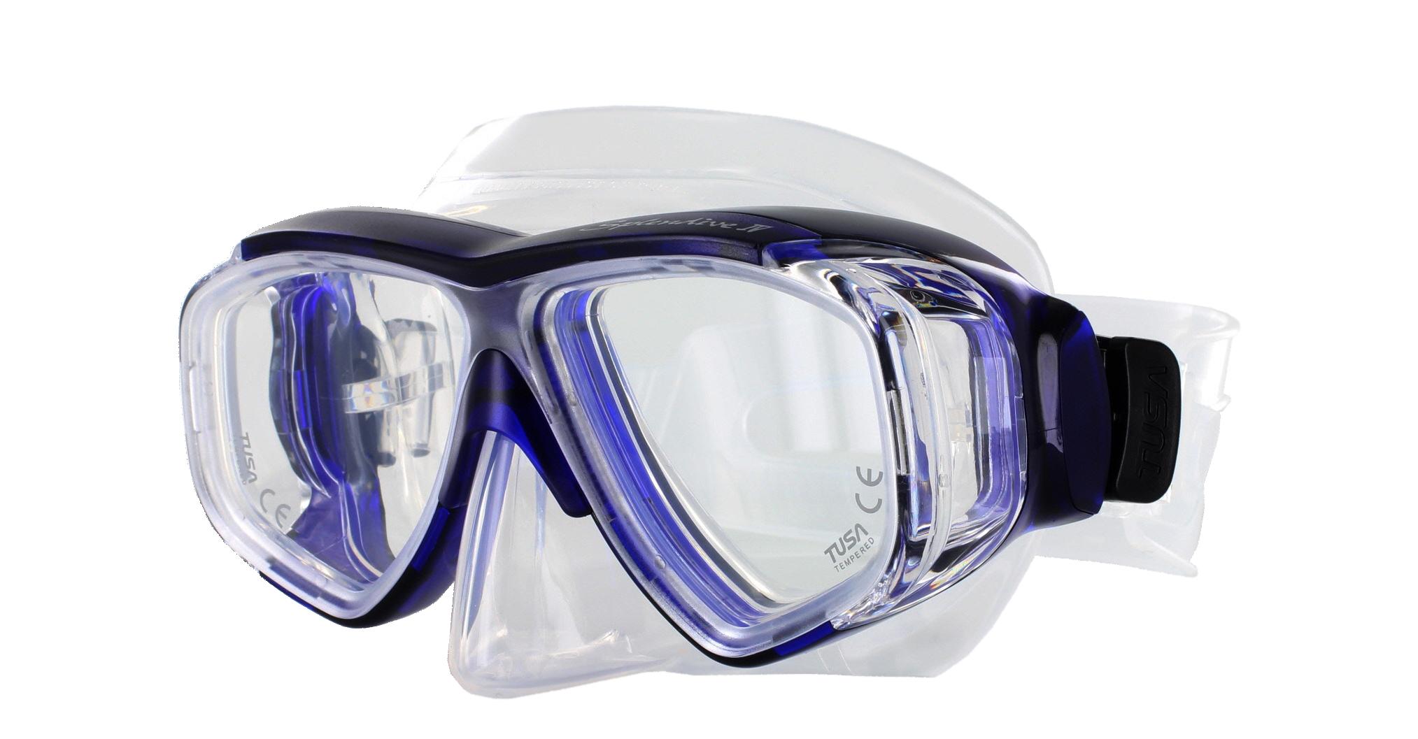 Tusa Splendive M-40 Clear Silicon - Blue Schräge Ansicht