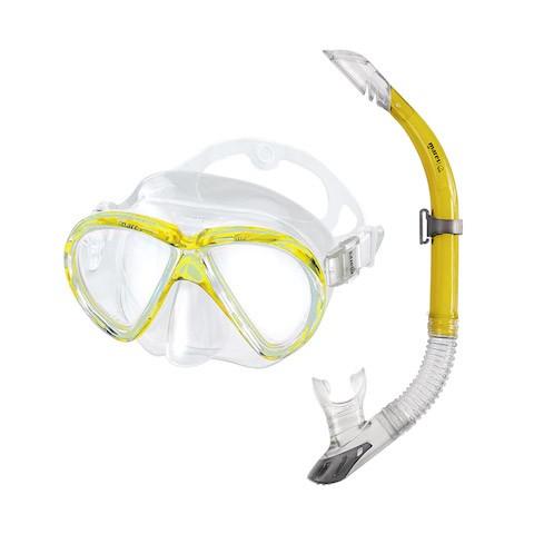 Schnorchelset - Mares Marea - transparent gelb