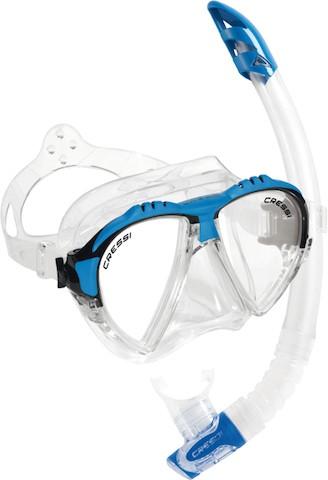 Schnorchelset - Cressi Matrix - transparent blau