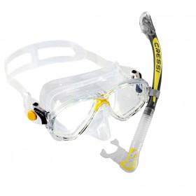 Schnorchelset - Cressi Marea - transparent gelb