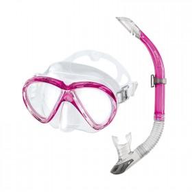 Schnorchelset - Mares Marea - transparent pink