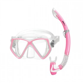 Schnorchelset Kinder - Mares Pirate - transparent pink