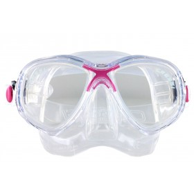 Cressi Marea Jr. Clear Silicon - Rosa