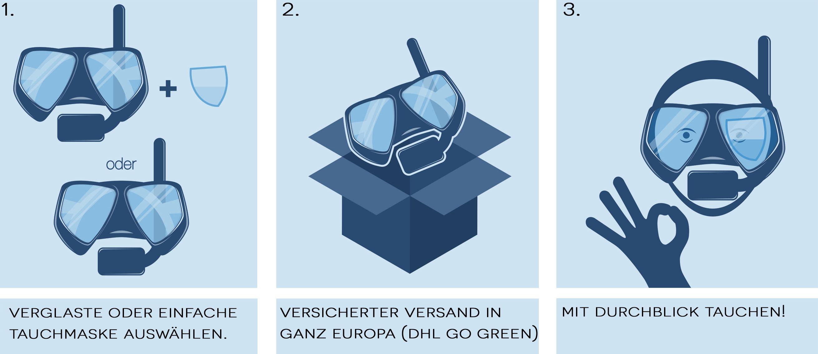 Taucherbrille mit Sehstärke online bestellen