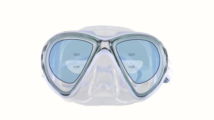 Taucherbrille Bifokal Sehbereiche