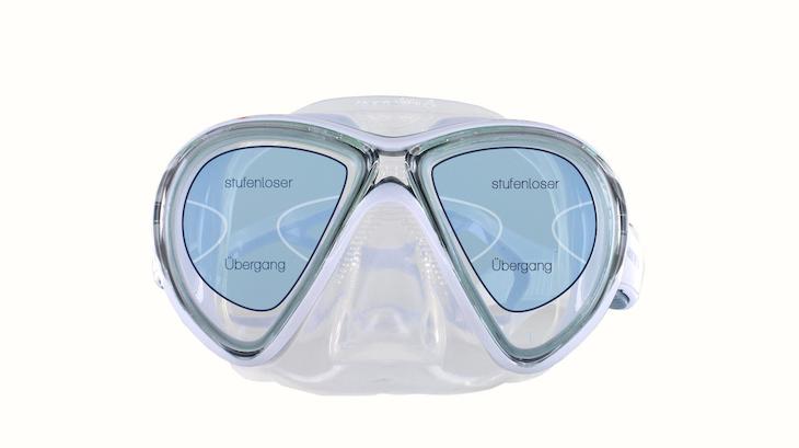 Taucherbrille Gleitsicht Sehbereiche