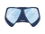 beschlagene Taucherbrille